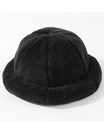 Fashion Black Pure Color Design Thicken Fisherman Hat