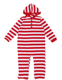 Fashion Red+white Stripe Pattern Design Household Clothes For Child