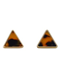 Fashion Coffee Triangle Shape Design Simple Earrings