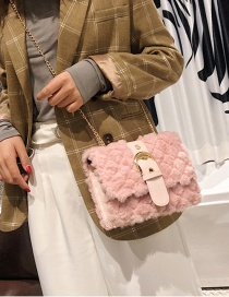 Fashion Pink Pure Color Design Square Shape Bag