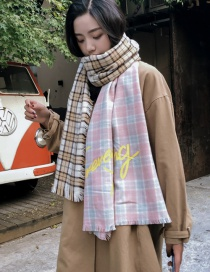 Fashion Multi-color Grids Pattern Decorated Color-matching Scarf