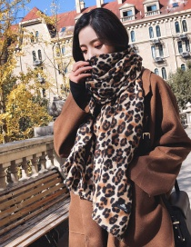 Fashion Beige Leopard Pattern Decorated Scarf