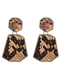 Fashion Brown Leopard Pattern Decorated Earrings
