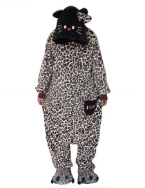 Fashion Brown Leopard Pattern Decorated Pajamas