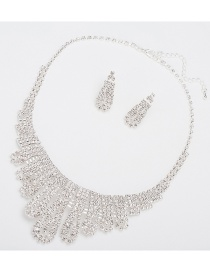 Fashion Silver Color Hollow Out Design Pure Color Jewelry Sets