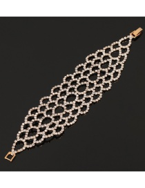Fashion Gold Color Full Diamond Design Hollow Out Bracelet