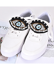 Fashion Light Blue Eye Shape Decorated Shoe Buckle