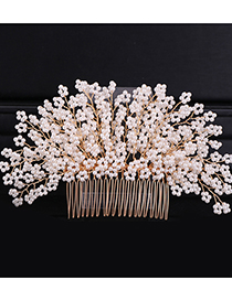 Fashion Gold Color Full Pearl Decorated Hair Accessories