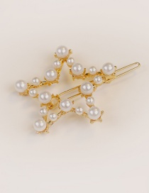 Fashion Gold Color Star Shape Decorated Hair Clip