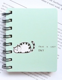 Fashion Blue Cat Pattern Decorated Notebook(100 Sheets)