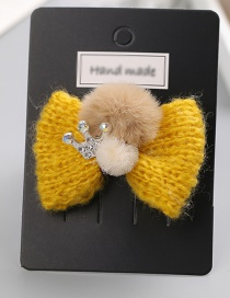 Fashion Yellow Bowknot Shape Decorated Hair Clip