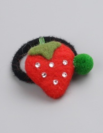 Fashion Red Strawberry Shape Decorated Hair Rope