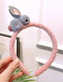 Fashion Pink Rabbit Shape Decorated Headband