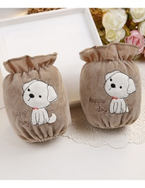 Fashion Brown Dog Pattern Decorated Sleeve For Child