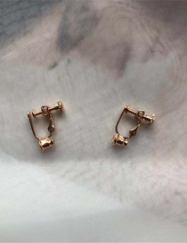 Fashion Rose Gold Pure Color Decorated Screw Ear Clip
