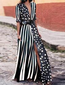 Fashion Black Spot Pattern Decorated Dress