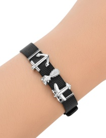 Fashion Black Pineapple&aircraft Decorated Simple Bracelet