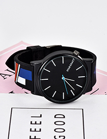 Fashion Black Graffiti Pattern Decorated Watch
