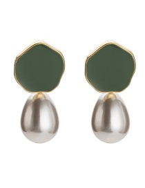 Fashion Green Irregular Shape Decorated Earrings