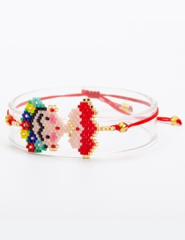 Fashion Red Cartoon Pattern Decorated Bracelet