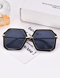 Fashion Black Geometric Shape Decorated Glasses