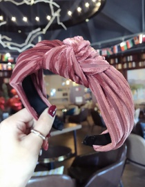 Fashion Dark Pink Pure Color Decorated Hair Hoop