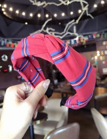 Fashion Red Stripe Pattern Decorated Hair Hoop