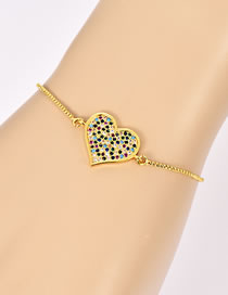Fashion Gold Color Heart Shape Decorated Simple Bracelet