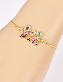 Fashion Gold Color Kids Shape Decorated Simple Bracelet