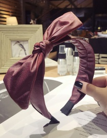 Elegant Claret Red Pure Color Design Knot Shape Hair Hoop