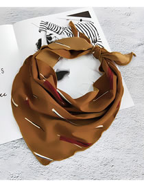 Fashion Brown Stripe Pattern Decorated Small Scarf