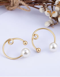 Fashion Gold Color Balls&pearls Decorated Simple Earrings