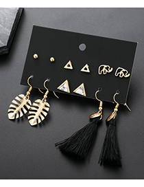 Elegant Alloy Elephant&tassel Decorated Earrings Sets
