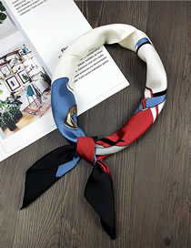 Fashion Black Bags Pattern Decorated Small Scarf