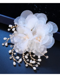 Fashion White Flower Shape Decorated Hair Clip
