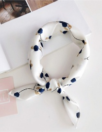 Fashion White Flower Pattern Decorated Scarf