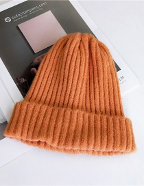 Fashion Orange Pure Color Decorated Hat