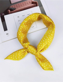 Fashion Yellow Smaller Dots Pattern Decorated Scarf