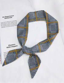 Fashion Yellow Stripe Pattern Decorated Simple Scarf