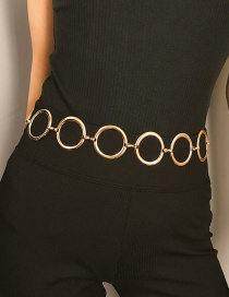 Fashion Gold Color Circular Ring Shape Decorated Body Chain