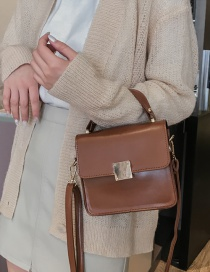 Fashion Light Brown Handbag Shoulder Slung Small Square Bag
