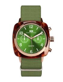 Fashion Green Noctilucent Design Waterproof Watch