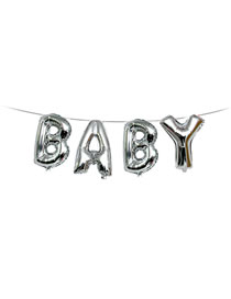 Fashion Silver Color Letter Baby Pattern Decorated Balloon