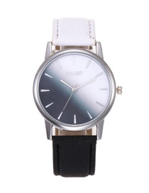 Fashion Black+white Color-matching Decorated Women's Watch