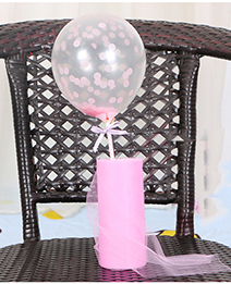 Fashion Pink Paillette Decorated Balloon