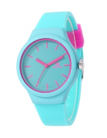 Fashion Green Pure Color Decorated Watch