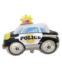 Fashion Black+white Police Car Shape Design Balloon