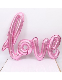 Fashion Pink Love Shape Design Balloon