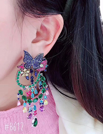 Simple Multi-color Butterfly Shape Decorated Earrings