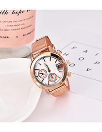 Fashion Gold Alloy Strap Electronic Element Watch